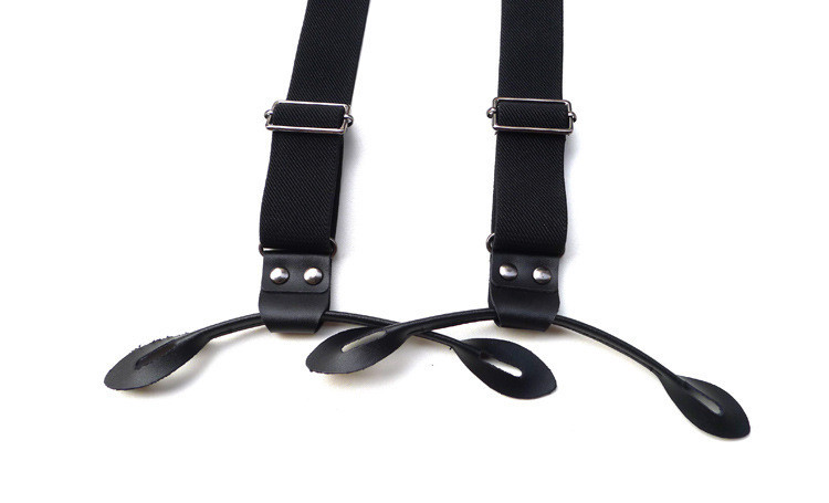The-original-black-elastic-Y-cross-leather-button-type-straps-Men-and-women-suspenders