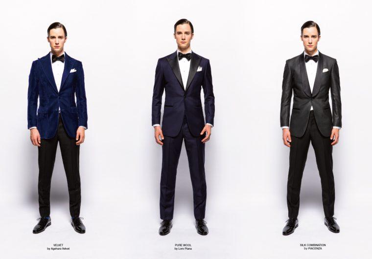新郎衣装のタキシード3種類