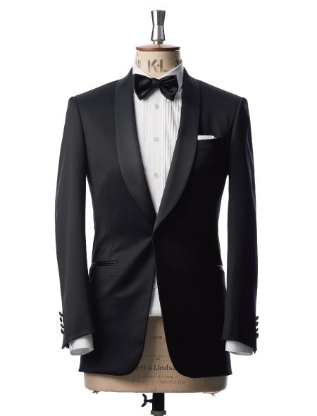 SINGLE SHAWL BLACK TUXEDO