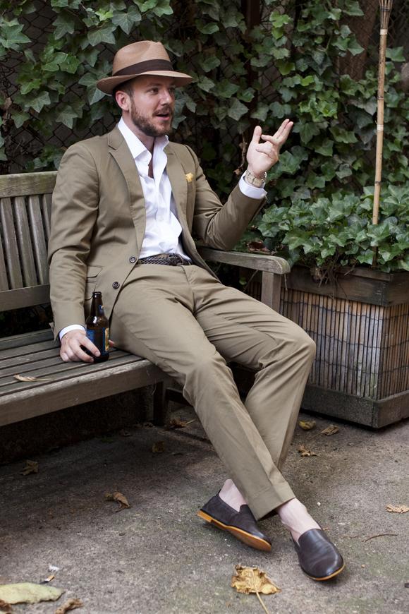 オルメザーノ コットン スーツ